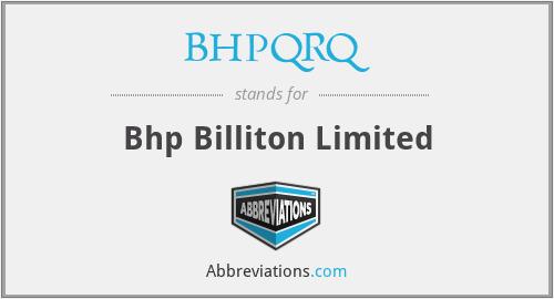 BHPQRQ - Bhp Billiton Limited