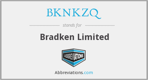What does BKNKZQ stand for?