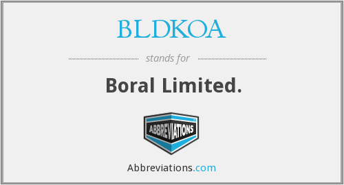 What does BLDKOA stand for?