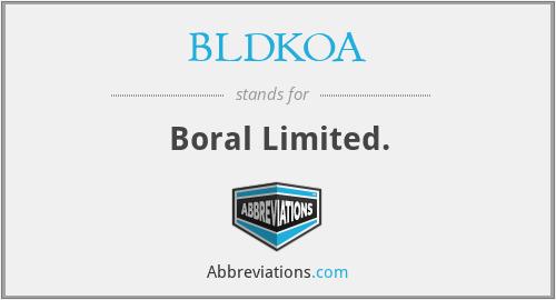 BLDKOA - Boral Limited.