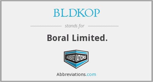 BLDKOP - Boral Limited.