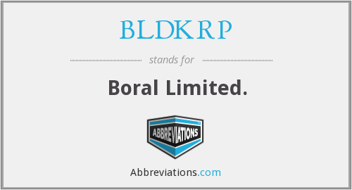 What does BLDKRP stand for?