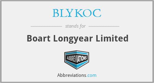 BLYKOC - Boart Longyear Limited