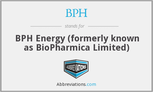 BPH - BPH Energy (formerly known as BioPharmica Limited)