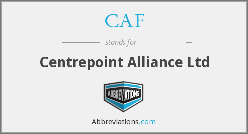 CAF - Centrepoint Alliance Ltd