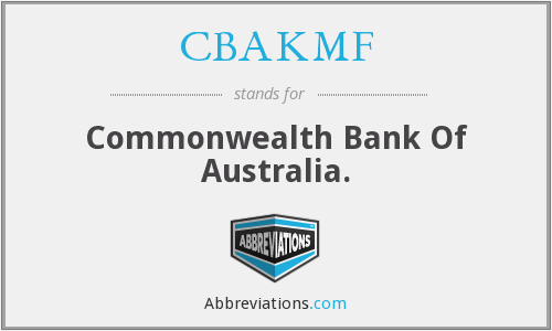 CBAKMF - Commonwealth Bank Of Australia.