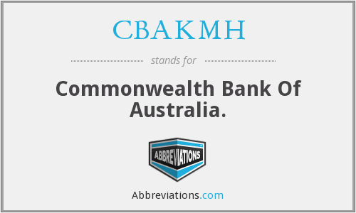 CBAKMH - Commonwealth Bank Of Australia.