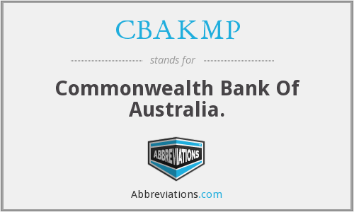 What does CBAKMP stand for?