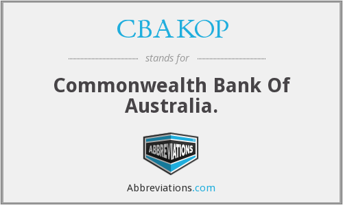 CBAKOP - Commonwealth Bank Of Australia.
