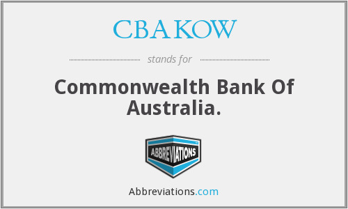 What does CBAKOW stand for?