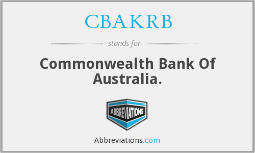What does CBAKRB stand for?