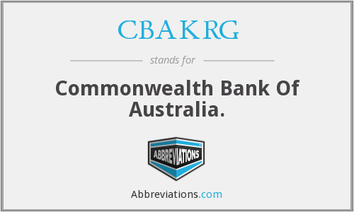 What does CBAKRG stand for?