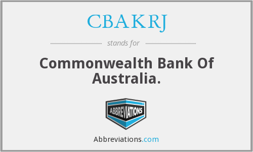 What does CBAKRJ stand for?