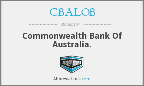 What does CBALOB stand for?