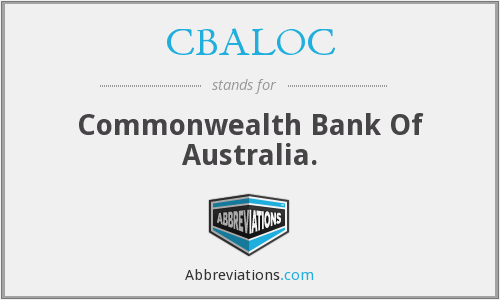 What does CBALOC stand for?