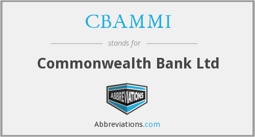 CBAMMI - Commonwealth Bank Ltd