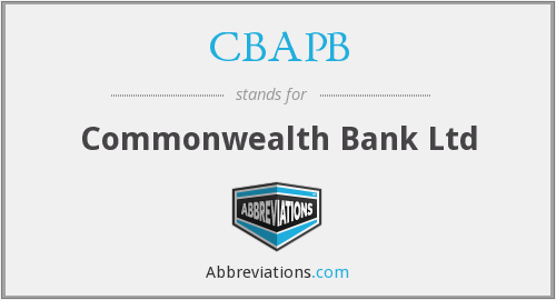 CBAPB - Commonwealth Bank Ltd