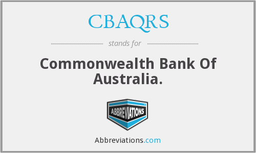 What does CBAQRS stand for?