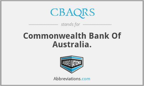 CBAQRS - Commonwealth Bank Of Australia.