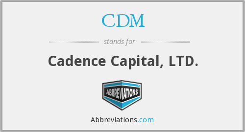 CDM - Cadence Capital Ltd