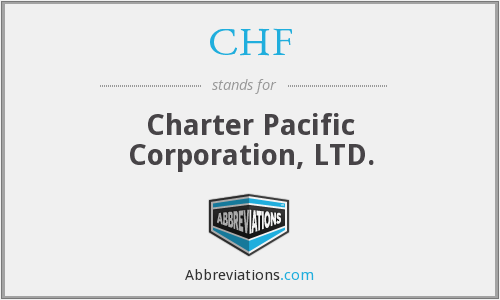 CHF - Charter Pacific Corporation, LTD.