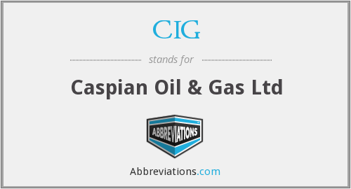 CIG - Caspian Oil & Gas Ltd