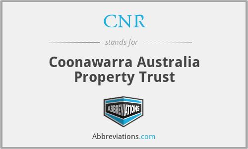 CNR - Coonawarra Australia Property Trust