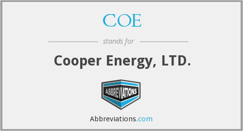 COE - Cooper Energy, LTD.