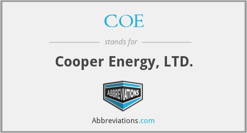COE - Cooper Energy, LTD.