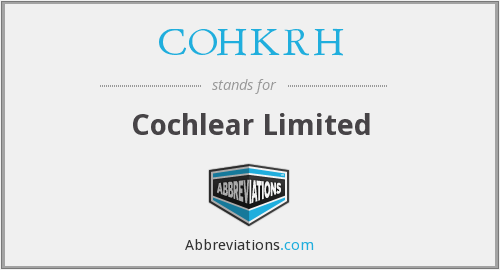 What does COHKRH stand for?