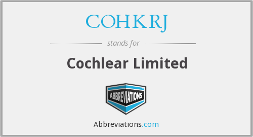 What does COHKRJ stand for?
