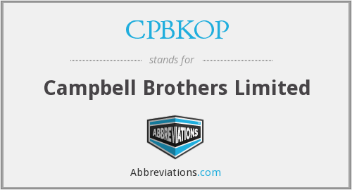 What does CPBKOP stand for?