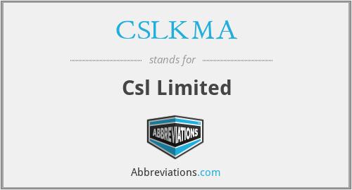 CSLKMA - Csl Limited