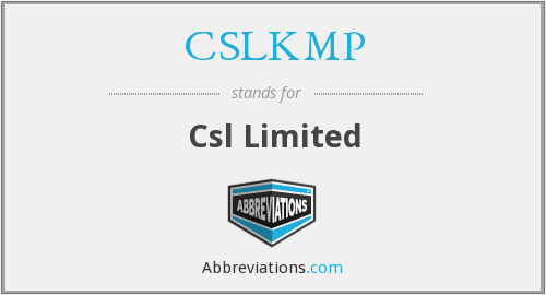 CSLKMP - Csl Limited