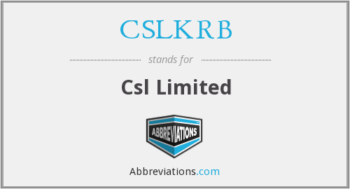What does CSLKRB stand for?