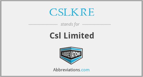 CSLKRE - Csl Limited
