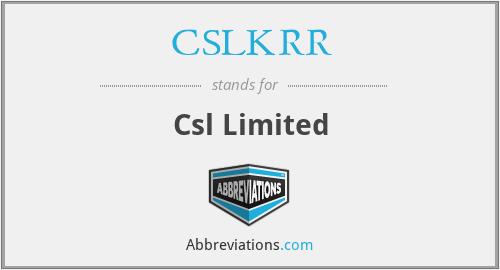 CSLKRR - Csl Limited