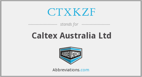 What does CTXKZF stand for?