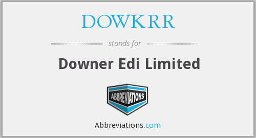 What does DOWKRR stand for?