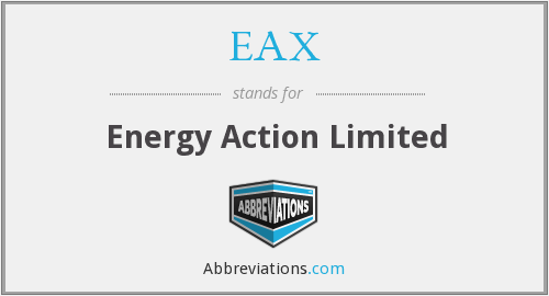EAX - Energy Action Limited