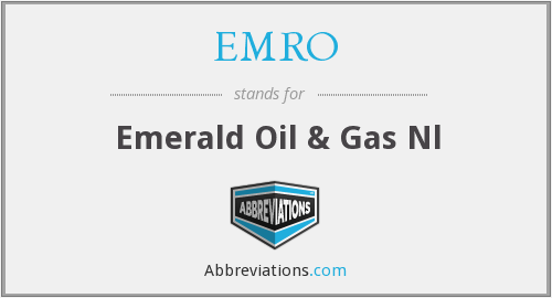 EMRO - Emerald Oil & Gas Nl
