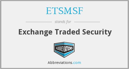 What does ETSMSF stand for?