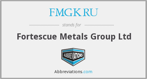 What does FMGKRU stand for?