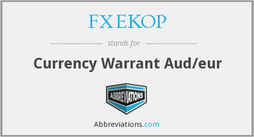 FXEKOP - Currency Warrant Aud/eur