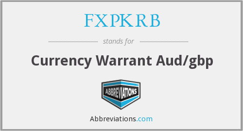 What does FXPKRB stand for?