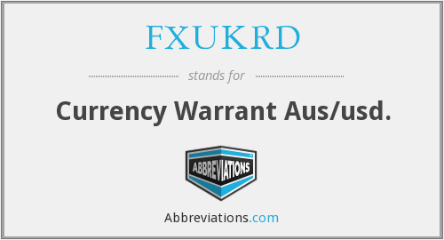 FXUKRD - Currency Warrant Aus/usd.