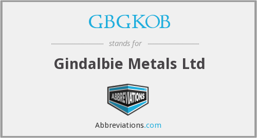 GBGKOB - Gindalbie Metals Ltd