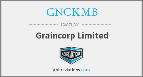What does GNCKMB stand for?
