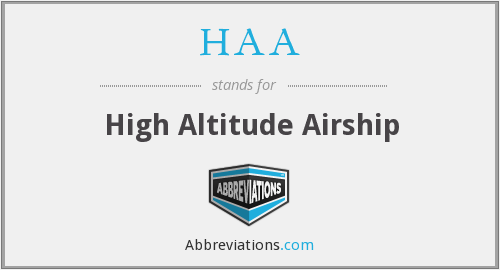 HAA - High Altitude Airship