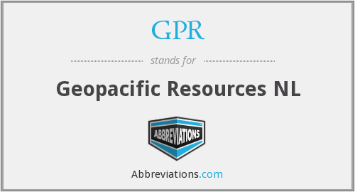GPR - Geopacific Resources NL